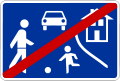 Verkehrsberuhigte Zone Ende