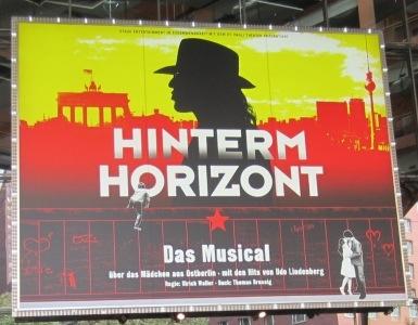 "Plakat Musical ""Hinterm Horizont"""
