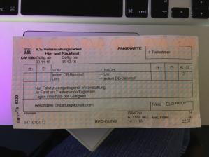 Bild Bahnticket