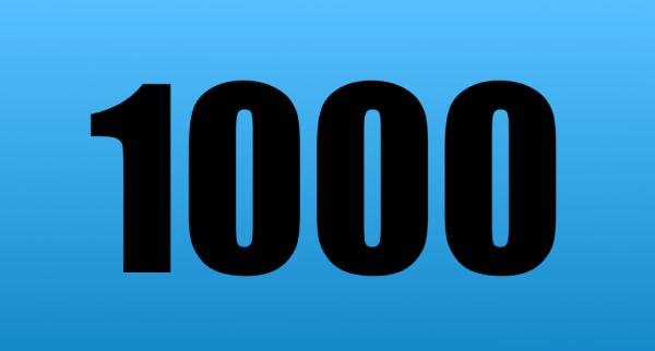 1000. Beitrag